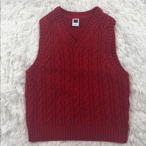 JANIE AND JACK Red Pullover Sweater Vest Size 3